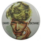 David Bowie - 'Face White' Button Badge